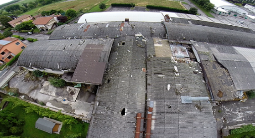 il tetto della ex Cdm di Meduna