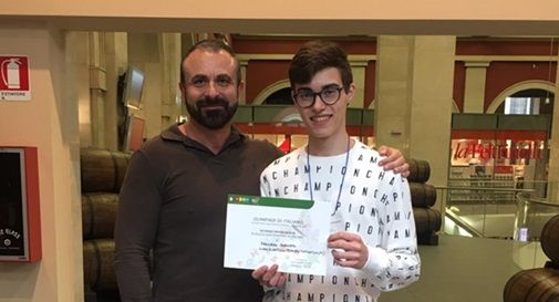 Francesco Paronetto secondo alle Olimpiadi di Italiano 2019