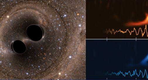 onde gravitazionali di due buchi neri