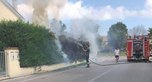 incendio in via Selve a Mogliano