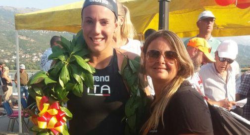 Barbara Pozzobon, premiata in Macedonia, insieme all'allenatrice Barbara Bertelli