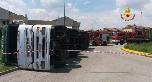 il camion incidentato