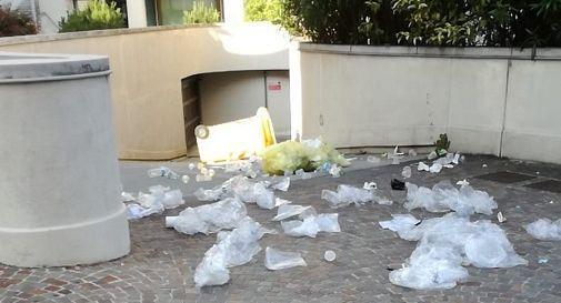 Conegliano, atto vandalico in centro: