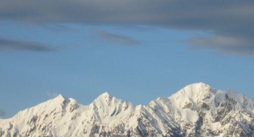 Escursione in montagna, sciatore di Mogliano elitrasportato