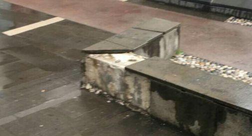 la struttura danneggiata in centro a Oderzo