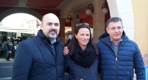 da sinistra: Franco Manzato, Marica Fantuz, Gianpaolo Vallardi