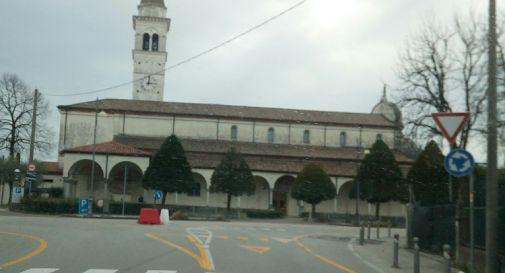 nuova rotatoria davanti alla basilica
