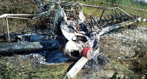 l'aereo bruciato sul greto del Piave