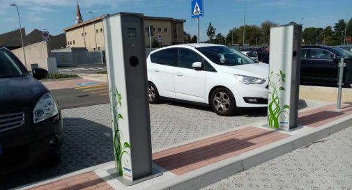 Nuove colonnine per le auto elettriche a Mogliano