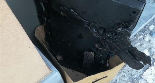 il televisore bruciato