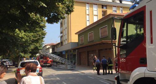 un'immagine del'intervento in via Roma
