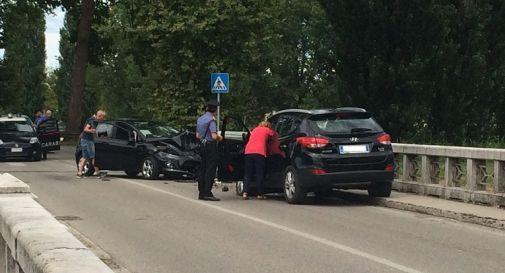 l'incidente di oggi pomeriggio lungo la Postumia a Oderzo
