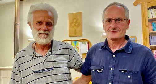 Silvano Lazzarin con il gestore dell'azienda Biodinamica San Michele