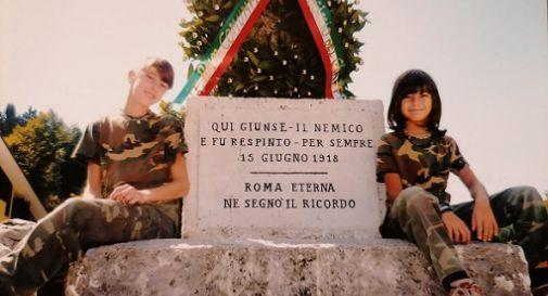 Anna e Davide Zen, sulla colonna romana di Solagna