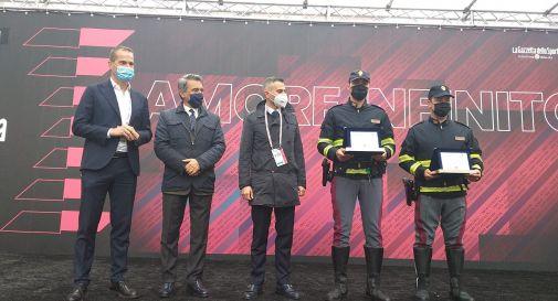 Polizia e Autostrade premiate al Giro d'Italia