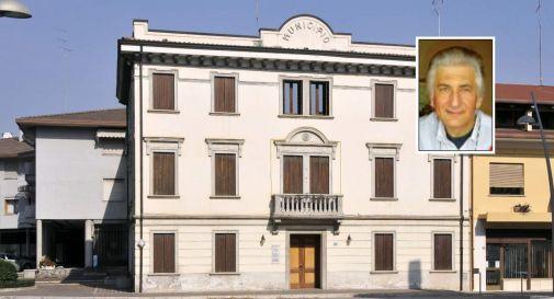 il municipio di San Polo e, nel riquadro, Armando Bianco