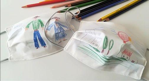 Mascherine con i disegni dei bambini di Conegliano