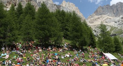 Turismo di massa nelle Dolomiti