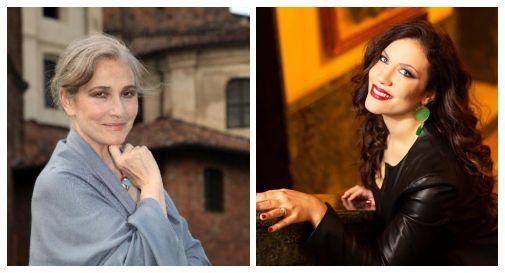 Ivana Monti (a sx); Francesca Dotto (a dx)