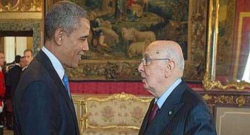 Obama commosso con il Papa. Poi pranzo con Napolitano