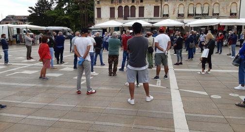 Proteste al mercato di Oderzo