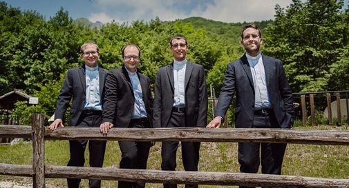 Preti novelli diocesi di Treviso: Mattia Agostini, Matteo Bettiol. Riccardo Marchiori, Fabio Toscan