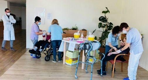 vaccinazione all'istituto Bon Bozzolla di Soligo