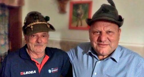 Dante Stefani (a sinistra) e Albino Bertazzon (a destra)