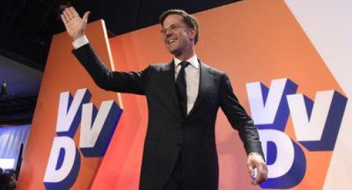 Olanda, vincono i liberali di Rutte: