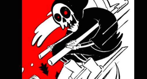 La morte sugli sci, Charlie Hebdo e la vignetta su Rigopiano