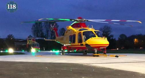 All'eliporto del Cà Foncello il nuovo elicottero per volare anche di notte