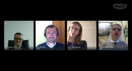 il frame della videoconferenza con i partecipanti