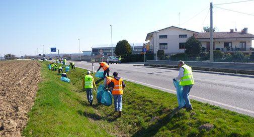 Undici metri cubi di rifiuti raccolti a Sernaglia