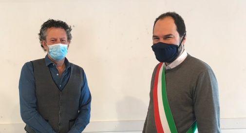 Luca Fiorini e il sindaco Davide Bortolato