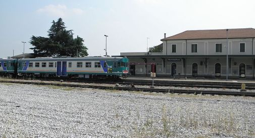 la stazione ferroviaria di Montebelluna