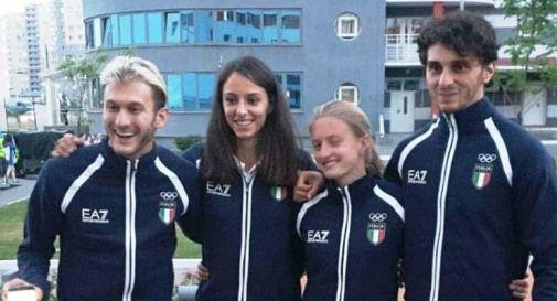 Nella foto: il quartetto azzurro degli European Games di Minsk. Tamassia è il primo a sinistra