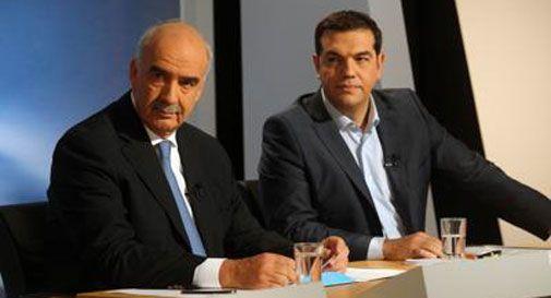 Alexis Tsipras e Evangelesi Meimarakis