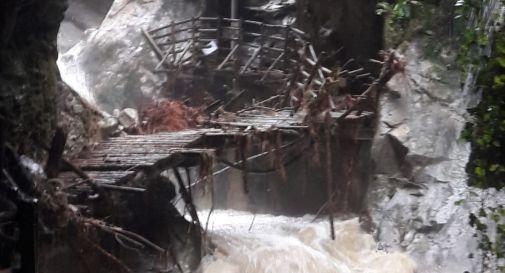 Grotte del Caglieron danneggiate dal maltempo del 6 dicembre
