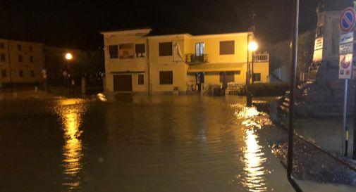 Piazza Roma Sarmede sotto acqua