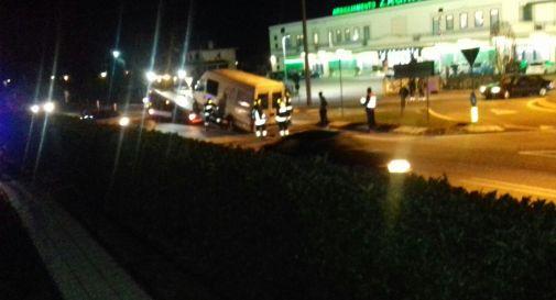 un'immagine dell'incidente di sabato sera