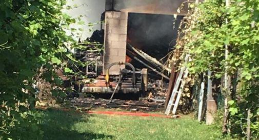 L'incendio di Oderzo poco fa