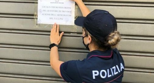 la chiusura per cinque giorni del bar di Treviso