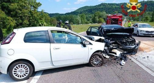 Allarme a Revine per un incidente tra due auto
