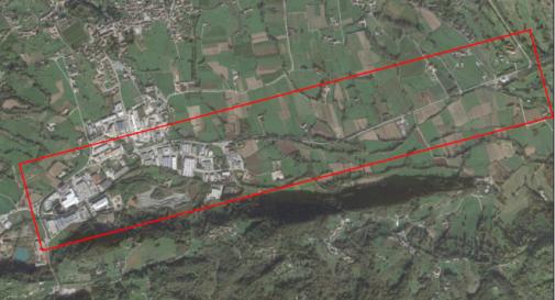Cartografia del territorio tra Possagno e Cavaso del Tomba