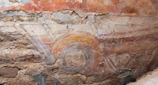 Durante restauri, rappresentano Vergine e San Martino