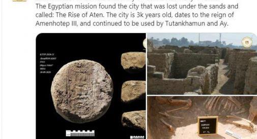 Straordinaria scoperta in Egitto, ritrovata 'città perduta' di 3.000 anni fa