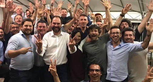 la festa del gruppo che sostiene Davide Bortolato
