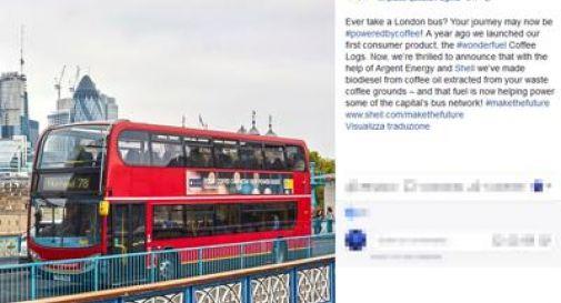 Londra, ora i bus viaggiano a caffè