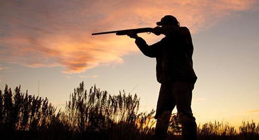 Litigio con il cacciatore, questo gli punta il fucile al petto. Scene da Far West a Ponte di Piave