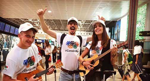 Bandiere, Prosecco e calzet: Canal alle olimpiadi di Rio